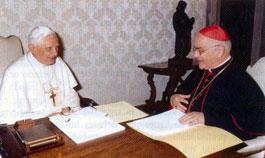 Benedicto XVI, en audiencia concedida al Cardenal José Saraiva Martins, Prefecto de la Congregación de las Causas de los Santos