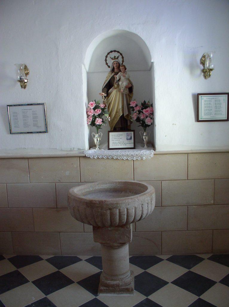 Pila donde fue bautizado Fray Leopoldo.