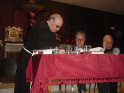 Clausura oficial en la cripta de Jesús de Medinaceli, del proceso sobre un milagro, atribuido a la intercesión de Fr. Leopoldo