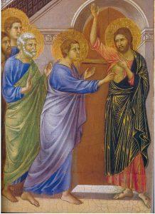 La Incredulidad de Tomás. Duccio di Buoninsegna