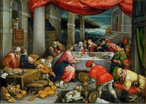 El banquete de bodas. Leandro Bassano