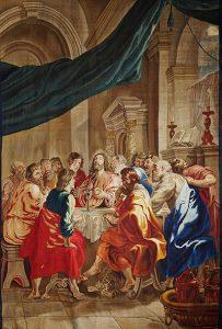 La institución de la Eucaristía. Tapiz. Pedro Pablo Rubens