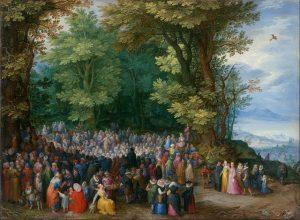 El Sermon de la Montaña. Jan Brueghel the Elder, 1598