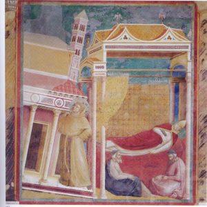 Francisco sostiene la Iglesia, Giotto, Basílica superior Asís