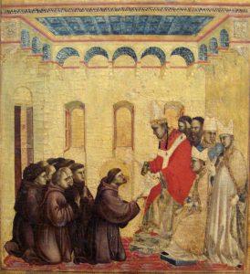 Francisco y compañeros ante Inocencio III