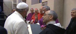 El Papa y el Maestro General de los dominicos Bruno Cadore