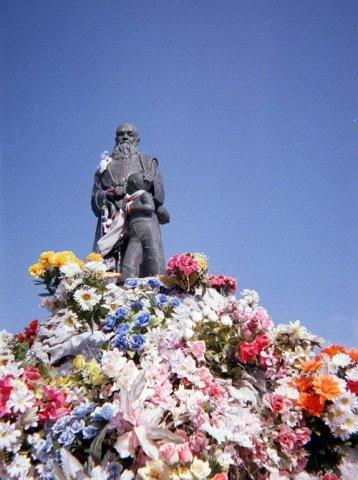 Monumento a Fray Leopoldo en su pueblo, Alpandeire