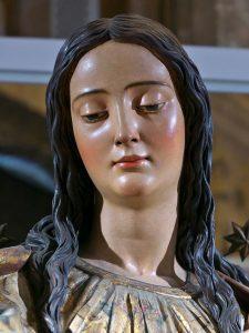 Inmaculada, Juan Martínez Montañés (Sevilla). Detalle del rostro. Catedral de Huelva