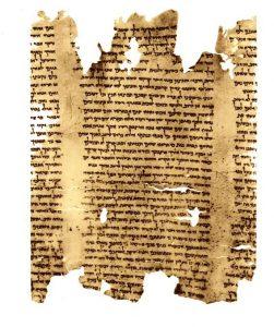 Manuscrito. Rollo del profeta Isaías