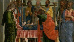 Bicentenario del Prado. Detalle del Tránsito de la Virgen de Mantegna