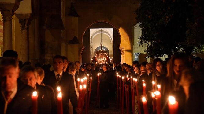 Salida en procesión de la Mezquita-Catedral