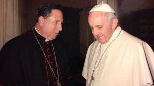 El Papa Francisco y D. Juan del Río, Arzobispo Castrense de España