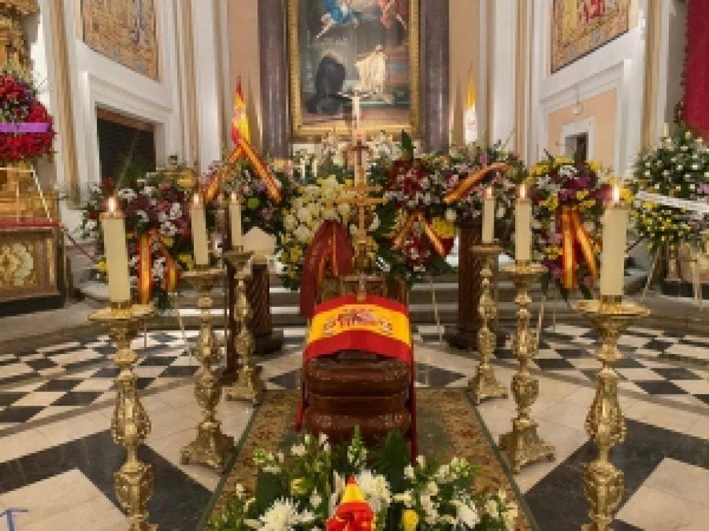 Los restos mortales del Arzobispo Castrense de España, D. Juan del Río, en la Catedral de las Fuerzas Armadas
