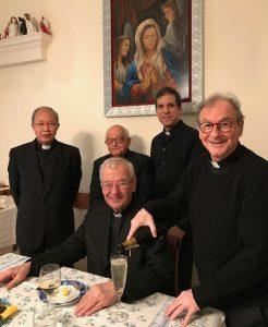 La familia agustiniana celebra con Mons. Rizzato el 88º cumpleaños