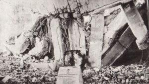 Ruinas del Hospital Clínico, donde murió el P. Huidobro