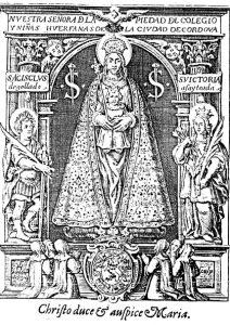 Grabado de la Virgen de la Piedad