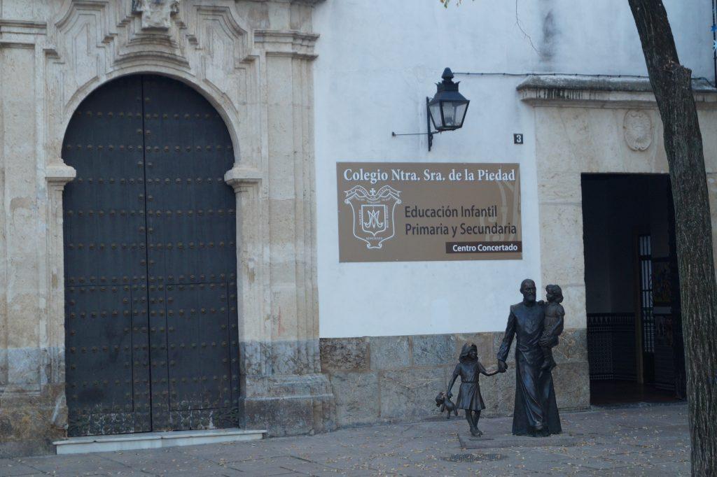 Iglesia de la Piedad en Córdoba, con la imagen del P. Cosme